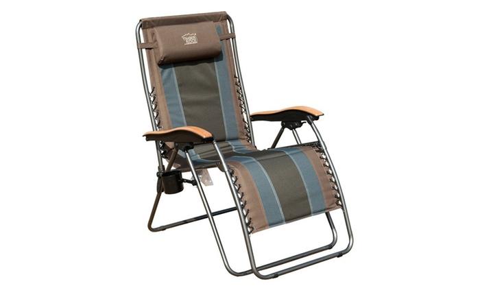 Timber Ridge Zero Gravity Patio Lounge Chair Groupon