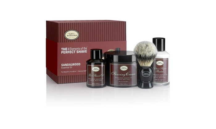 the art of shaving sandalwood the 4 elements of the perfect shave groupon. Black Bedroom Furniture Sets. Home Design Ideas