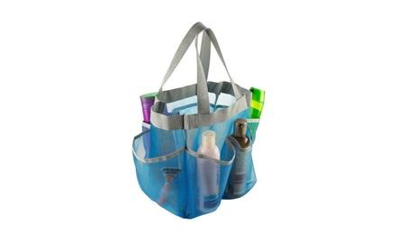 Bathroom Organizer Light Blue 7 Pocket Dorm Mesh Shower Caddy Tote 09735dc0-8d0e-41e2-9fa6-631e4873ce5f