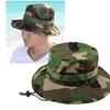 Zodaca Unisex Camouflage Bucket Hat  Sun Cap One Size - Green/Black
