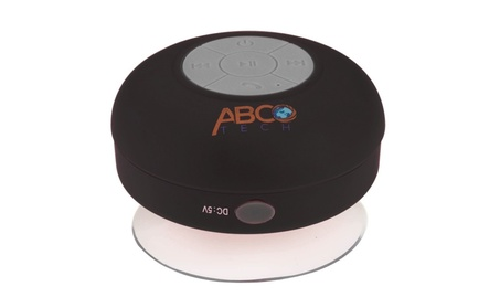 Abco Tech Water Resistant Wireless BT Shower Speaker with Suction Cup 15a5f1ba-8d7c-4b49-82eb-c32c1d16a033