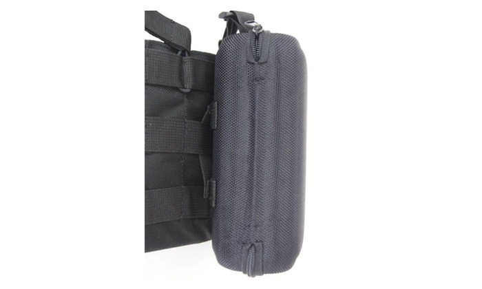 Eyeglasses Case W/Clip Hanger,Belt loop & Strap Attaching to Molle