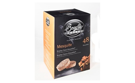 Bradley Smokers 48 Pack Mesquite BBQ Bisquettes f95fe752-11e1-4c6c-ad5c-d0a233e24c09