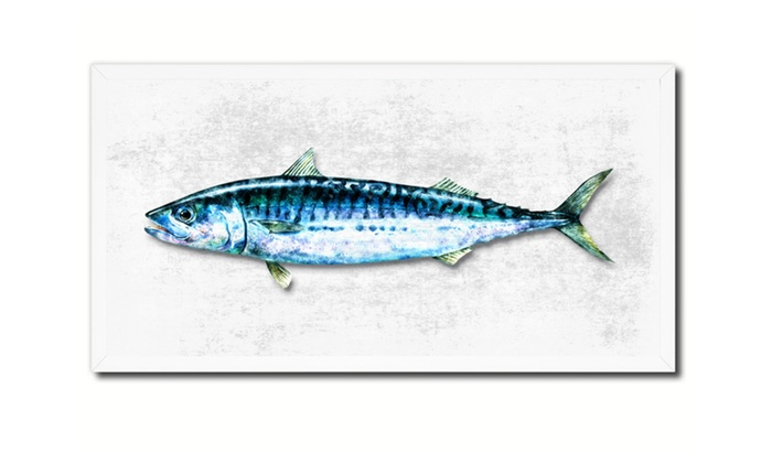 Mackerel Fish Art Canvas Print Picture Frame Home Decor Gift ...