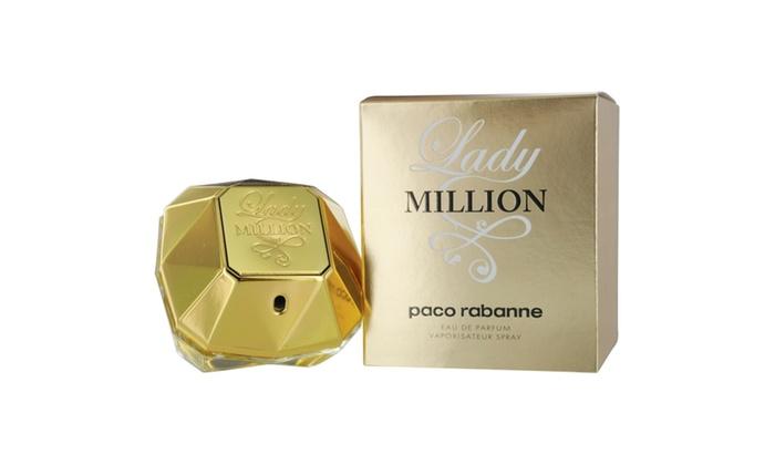 paco rabanne lady million eau de parfum spray 1 oz groupon. Black Bedroom Furniture Sets. Home Design Ideas