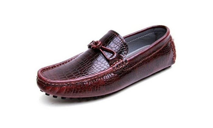 Men's Casual Leather Driving Slip On Moccasin Loafer Shoes