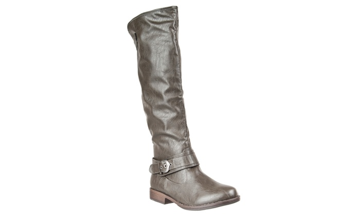 Riverberry Womens Mid-Calf 'Montage' Riding Boots, Olive
