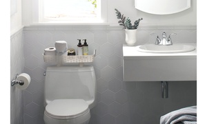 Plastic Over the Toilet Bathroom Shelf -  The Best Screwless Toilet Paper Holder