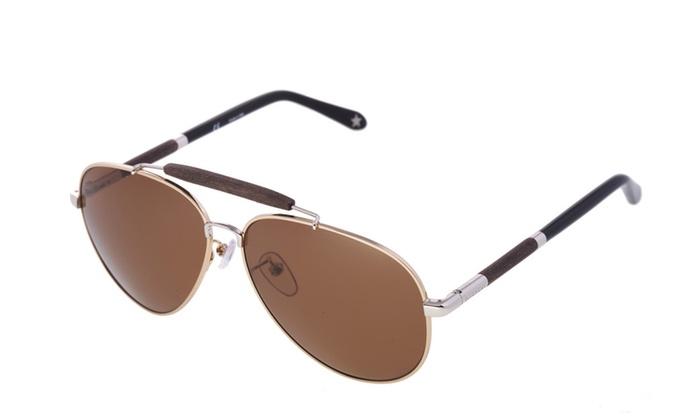 755ee4645 Givenchy Men and Women Brown Wood Aviator Italian Designer Sunglasses