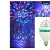 Auto RGB Full Color Rotating LED Disco bulb light 3W With sound effect