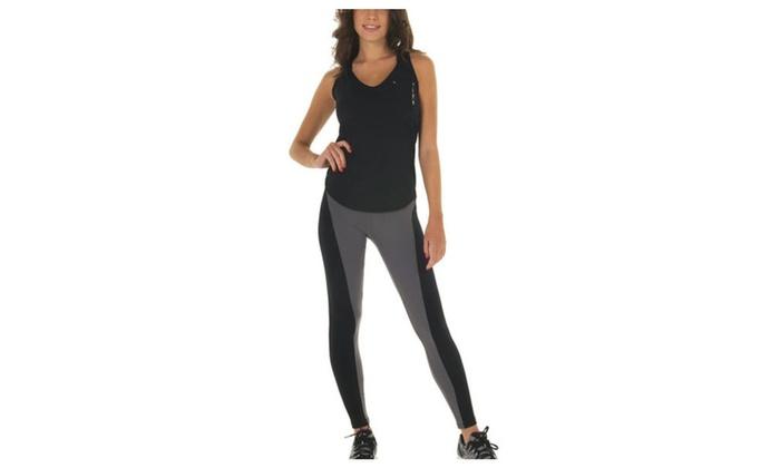 Womens Cotton Workout Capri Legging Yoga Tights Exercise Running Pants