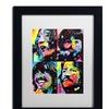 Dean Russo 'Beatles' Matted Black Framed Art