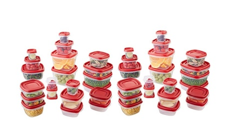 Rubbermaid Food Storage Container, 42-Piece Set, Red 5823a36f-b372-4519-b514-d7d80084711d