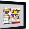 Michael Tompsett 'Mondrian World Map' Matted Framed Art