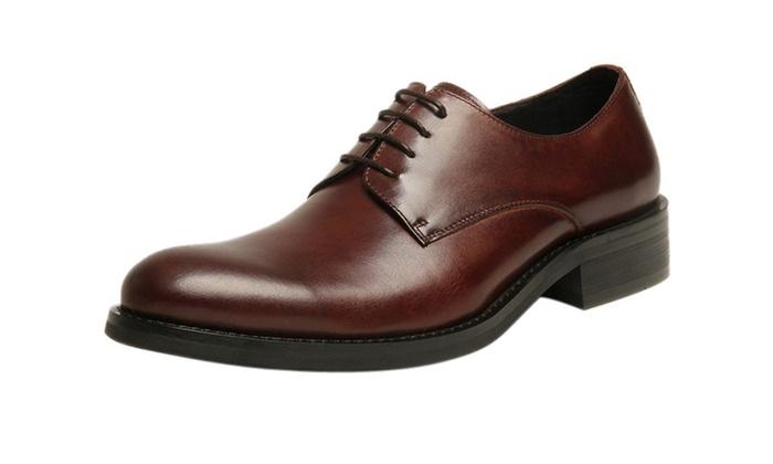 Men's Leather Round Toe Oxford