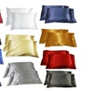 Pillow Cases Satin Multiple Colors 2 Pc