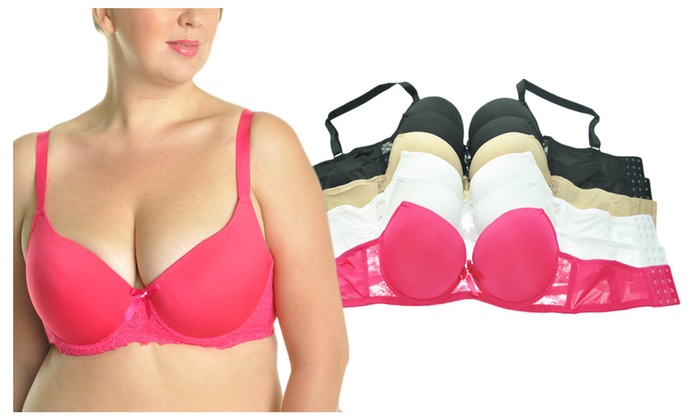 822364e6fe3 Angelina 6-Pack Full Figure D-DD-DDD Cup Wired Bras