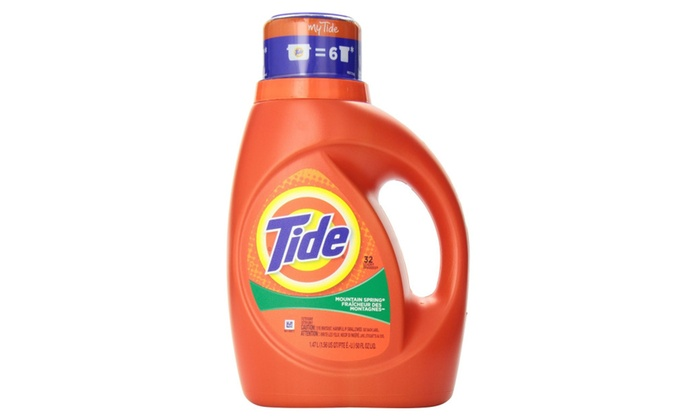 Tide Laundry Detergent 2 X Mountain Spring 50 Oz Pack Of