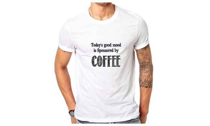 Sponsored By Coffee Funny T-shirt