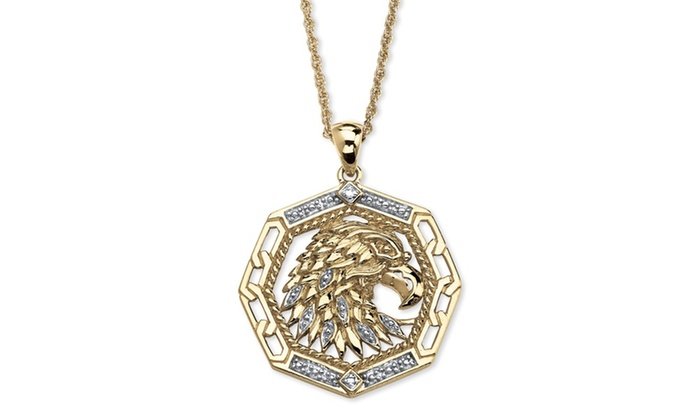 Mens diamond accent 10k yellow gold eagle pendant groupon groupon goods mens diamond accent 10k yellow gold eagle pendant aloadofball Gallery