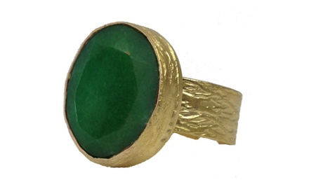 Large Green Cocktail Ring