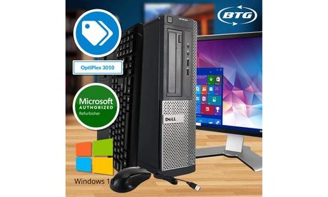 Dell 3010 Desktop Computer Intel Core I5 Windows 10 Pro 19in Monitor Kit