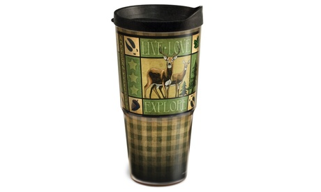 American Expedition 24oz Two-Tier Tumbler-Lodge Series Deer 17644a0d-d9ce-4706-ac9f-b8bbc4b2febc