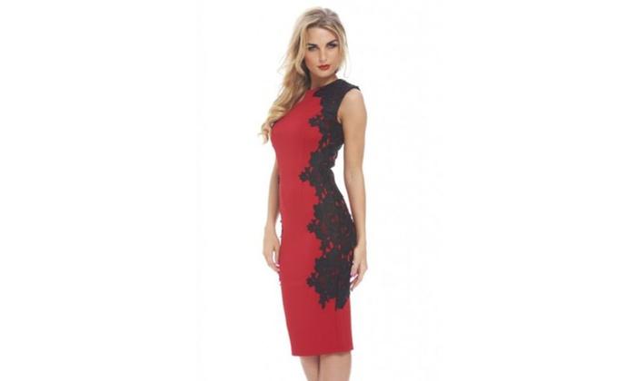 3349ccaa1d7 AX Paris Crochet Lace Side Midi Dress