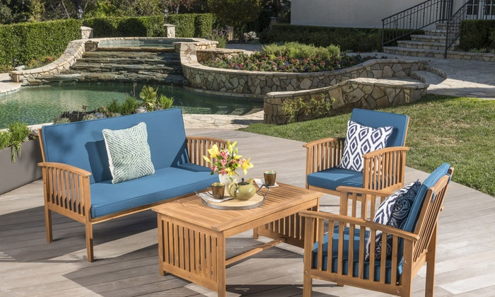 Cape Town Outdoor Patio Sofa Set (4 Piece) ...