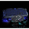 3 Color LED Backlight Wired USB Gaming Keyboard and Mouse Set