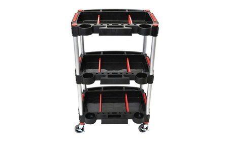 """Luxor 3 Shelf Industrial Tool Storage Mechanics Cart with 3"""" Casters 8d4c8f02-89ab-4116-bf92-e3dc562be682"""