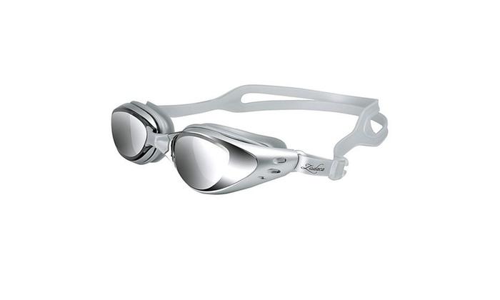 Insten Non-Fogging Anti UV Swimming Goggle Glasses Adult Silver