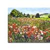 David Lloyd Glover Poppy Fields of France Canvas Print