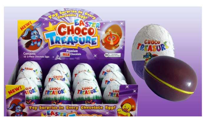 Choco Treasure Chocolate Eggs with Toy Inside 12-Piece Box : toy egg box - Aboutintivar.Com