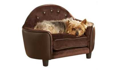 furniture dog bed. image placeholder for new plush dog bed sofa headboard brown pebble color pet comfort style furniture d