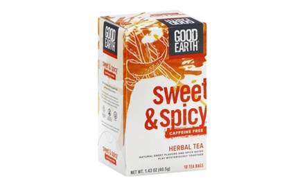 Good Earth Sweet & Spicy Caffeine Free Herbal Tea, (Pack of 108)