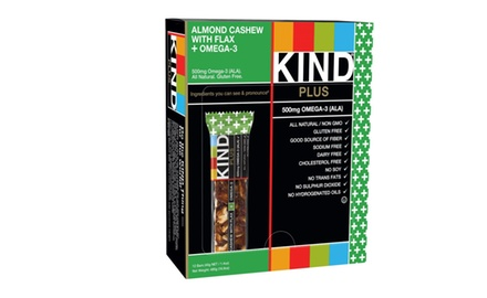 KIND PLUS, Almond Cashew + Omega-3, Gluten Free Bars, 1.4 Ounce, (Pack of 12)