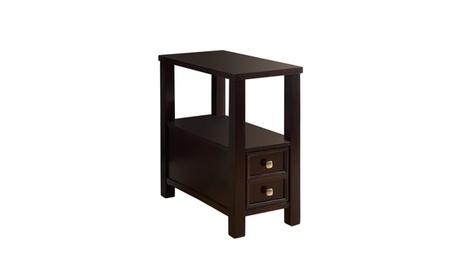 Cordelle Espresso Single Drawer Open Shelf Accent Table c326e5f4-a391-4e99-b660-e32a093b6f05