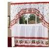 """Strawberry Vine Tier Pair 36""""x57"""" and Swag 30""""x57"""" Set- Red"""