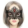 Women's Halloween Masquerade Half Face Veil Cover Mask
