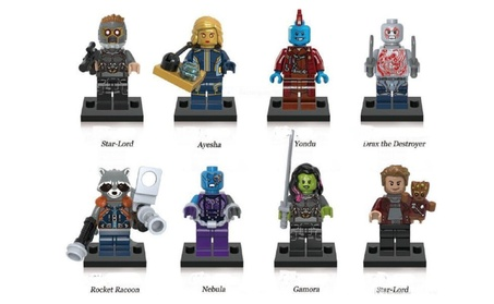 Guardians Of The Galaxy Vol. 2 Mini Figures Set - 8 Characters 44541397-2187-424d-82c9-72cb020e16ea