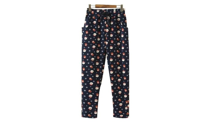 Women's Casual Printed Insulation High Rise Long Trousers