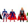 6pcs The Avengers Super Hero Hulk Captain Spiderman Figure Kids Toy