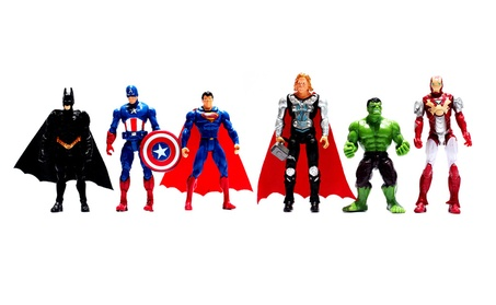 6Pcs Avenger Model Hulk Captain America Superman Batman Thor Iron Toy 4357c81b-6080-4df2-905b-e0721adb6aae