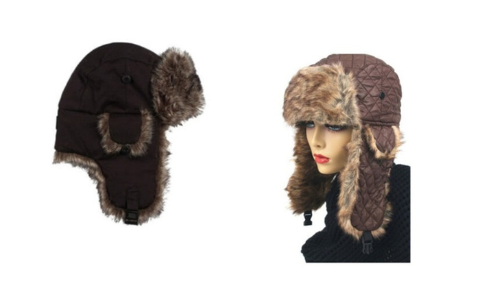 Unisex Fashionable Faux Fur Trapper Hat for Winter