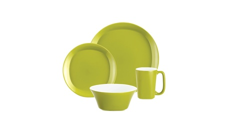 Rachael Ray Dinnerware Round & Square 4-Piece Dinnerware Set ec6403ad-e6ee-4f09-a11f-420a83a8cc15