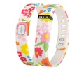 Zodaca Replace Small Band for Fitbit Activity Tracker w/ Clasp Flower