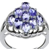 2.15 CTTW Genuine Tanzanite and Cubic Zirconia  Sterling Silver Ring