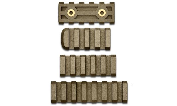 AB Arms LTF Combo Pack 7-5-4 Slot Rails Flat Dark Earth