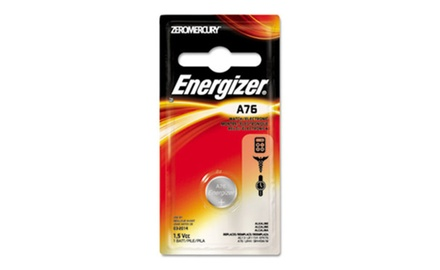 Energizer Watch/Electronic Battery, Alkaline, A76, 1.5V, Mercury Free (EVEA76BPZ)
